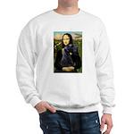 Mona Lisa /giant black Schnau Sweatshirt