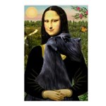 Mona Lisa /giant black Schnau Postcards (Package o