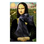 Mona Lisa /giant black Schnau Postcards (Package o