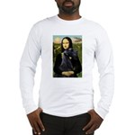 Mona Lisa /giant black Schnau Long Sleeve T-Shirt
