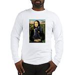 Mona Lisa /giant black Schnau Long Sleeve T-Shirt