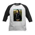 Mona Lisa /giant black Schnau Kids Baseball Jersey
