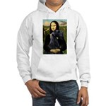 Mona Lisa /giant black Schnau Hooded Sweatshirt