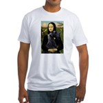 Mona Lisa /giant black Schnau Fitted T-Shirt