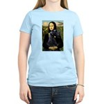 Mona Lisa /giant black Schnau Women's Light T-Shir