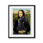 Mona Lisa /giant black Schnau Framed Panel Print