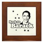 Rock to Barack Framed Tile
