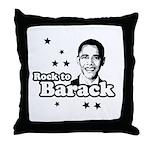 Rock to Barack Throw Pillow