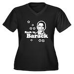 Rock to Barack Women's Plus Size V-Neck Dark T-Shi