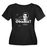 Who's your Obama? Women's Plus Size Scoop Neck Dar