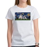 Starry Night / Min Schnauzer Women's T-Shirt