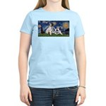 Starry Night / Min Schnauzer Women's Light T-Shirt