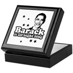 Barack it all night long Keepsake Box