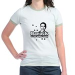 Barack it all night long Jr. Ringer T-Shirt