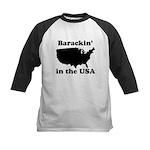 Barackin' in the USA Kids Baseball Jersey