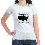 Barackin' in the USA Jr. Ringer T-Shirt