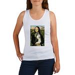 Mona Lisa & Siberian Husky Women's Tank Top