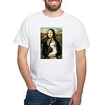 Mona Lisa & Siberian Husky White T-Shirt