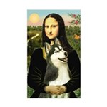 Mona Lisa & Siberian Husky Sticker (Rectangle)