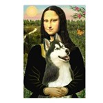 Mona Lisa & Siberian Husky Postcards (Package of 8