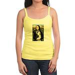 Mona Lisa & Siberian Husky Jr. Spaghetti Tank