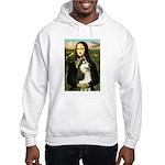 Mona Lisa & Siberian Husky Hooded Sweatshirt