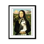 Mona Lisa & Siberian Husky Framed Panel Print