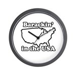 Barackin' in the USA Wall Clock