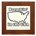 Barackin' in the USA Framed Tile