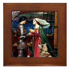 Tristan & Isolde Husky Framed Tile