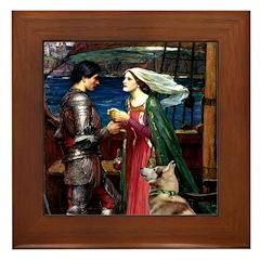 Tristan & Isolde Husky Framed Tile
