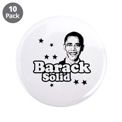"Barack Solid 3.5"" Button (10 pack)"