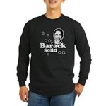 Barack Solid Long Sleeve Dark T-Shirt