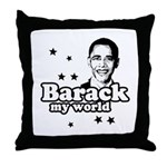 Barack my world Throw Pillow