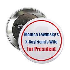 "Monica's X - 2.25"" Button"
