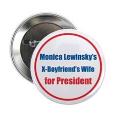 "Monica's X - 2.25"" Button (10 pack)"