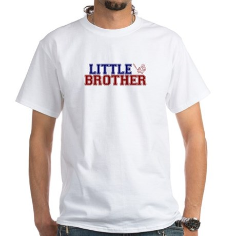 Little Brother Baseball White T-Shirt