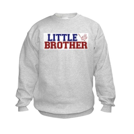 Little Brother Baseball Kids Sweatshirt