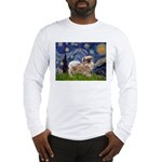 Starry / Tibetan Spaniel Long Sleeve T-Shirt
