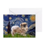 Starry / Tibetan Spaniel Greeting Cards (Pk of 10)
