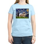 Starry / Tibetan Spaniel Women's Light T-Shirt