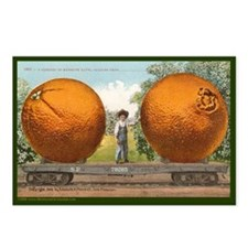 Unique Orange train Postcards (Package of 8)