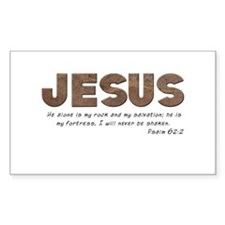 Jesus - My rock Rectangle Decal