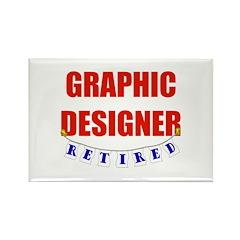 Retired Graphic Designer Rectangle Magnet (100 pac