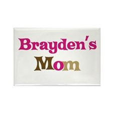 Brayden's Mom Rectangle Magnet (10 pack)