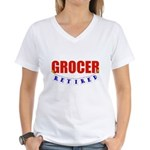 Retired Grocer Women's V-Neck T-Shirt