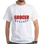 Retired Grocer White T-Shirt