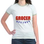 Retired Grocer Jr. Ringer T-Shirt
