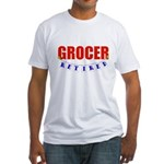 Retired Grocer Fitted T-Shirt