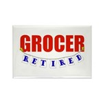 Retired Grocer Rectangle Magnet (10 pack)